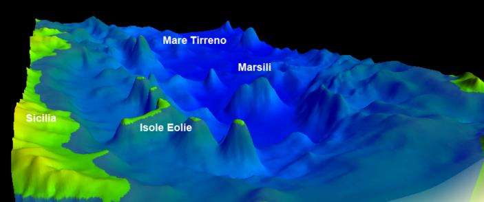 Il vulcano Marsili.