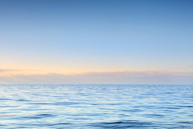 Ecco il mare calmo.