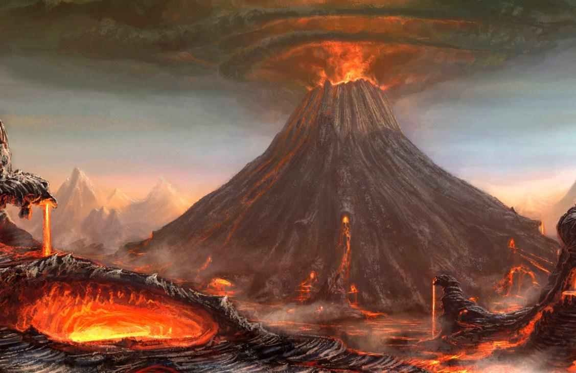 Ecco il vulcano.