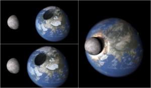 Cosa accadrebbe se la Luna colpisse la Terra? Eccolo spiegato