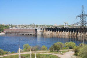 Il fiume Dnepr.