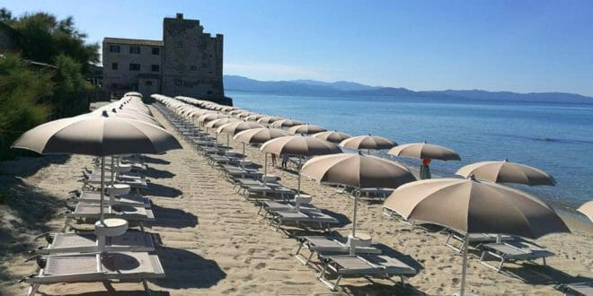 La spiaggia di Torre Mozza.